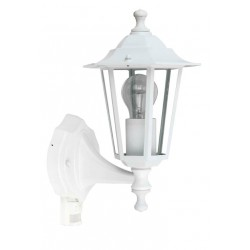 Bílá nástěnná lampa CROWN