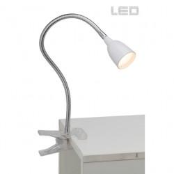 Stolní klipová lampa ANTHONY bílá