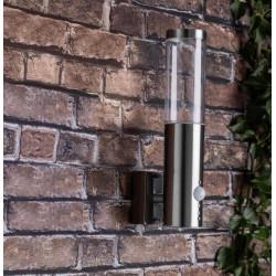 Venkovní nástěnné svítidlo BERGEN ocel se senzorem